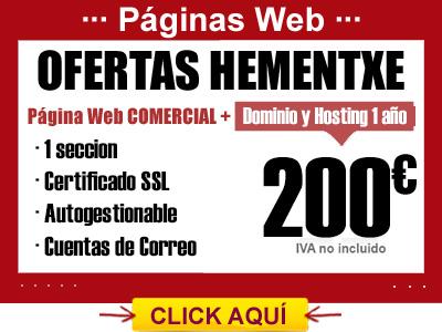OFERTA PÁGINA WEB COMERCIAL