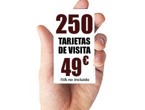 250 TARJETAS DE VISITA